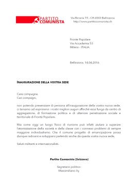 lettera Ticino
